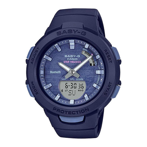 Casio Baby-G G-Squad Bluetooth® Blue Resin Band Watch BSAB100AC-2A BSA-B100AC-2A