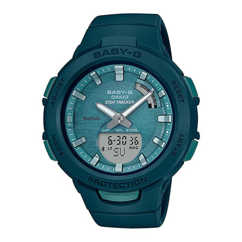 Casio Baby-G G-Squad Bluetooth® Green Resin Band Watch BSAB100AC-3A BSA-B100AC-3A
