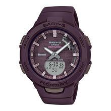 Load image into Gallery viewer, Casio Baby-G G-Squad Bluetooth® Brown Resin Band Watch BSAB100AC-5A BSA-B100AC-5A