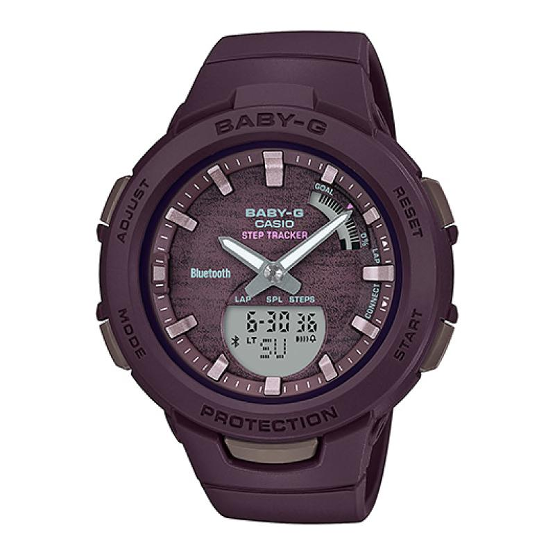 Casio Baby-G G-Squad Bluetooth® Brown Resin Band Watch BSAB100AC-5A BSA-B100AC-5A