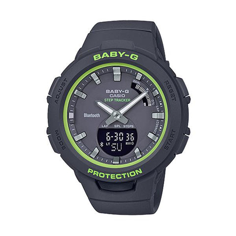 Casio Baby-G G-Squad Bluetooth® Black Resin Band Watch BSAB100SC-1A BSA-B100SC-1A