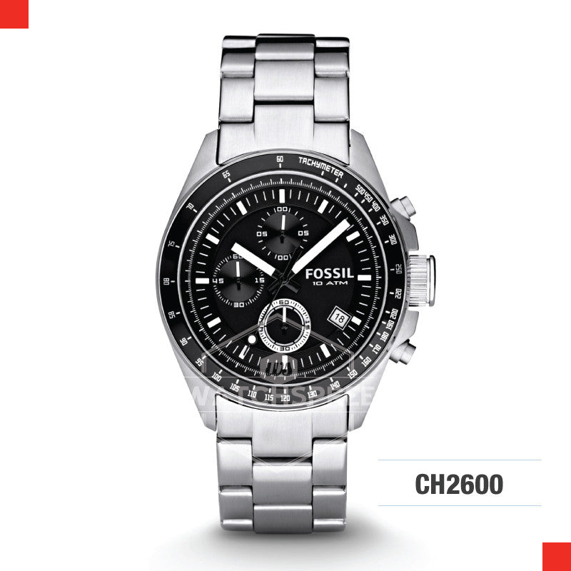 Fossil Men Decker Chronograph Stainless Steel Watch CH2600