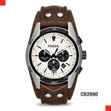 Fossil Men Coachman Chronograph Brown Leather Watch CH2890