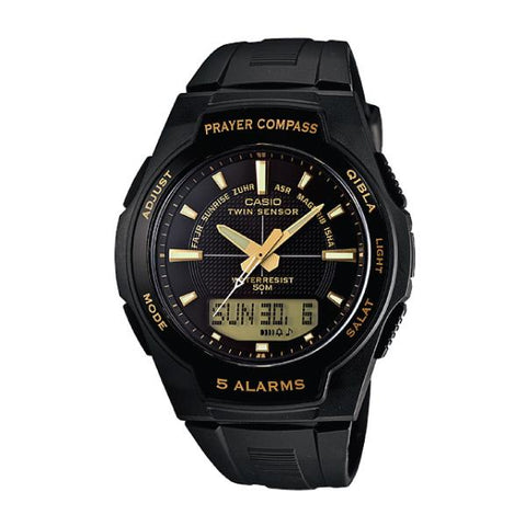 Casio Islamic Prayer Watch Series Black Resin Band Watch CPW500H-1A CPW-500H-1A