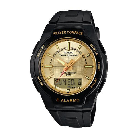 Casio Islamic Prayer Watch Series Black Resin Band Watch CPW500H-9A CPW-500H-9A