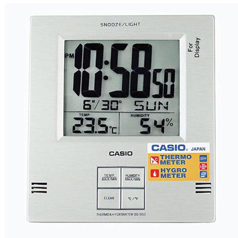 Casio Digital Desk Silver Clock DQ950-8D DQ950-8