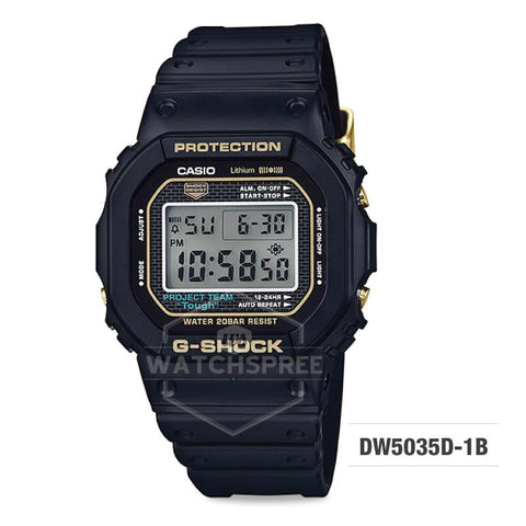 Casio G-Shock 35-year Anniversary Limited Model Black Resin Band Watch DW5035D-1B DW-5035D-1B