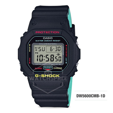 Casio G-Shock Breezy Rasta Color Black Resin Band Watch DW5600CMB-1D DW-5600CMB-1D