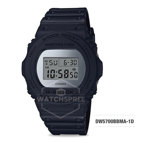 Casio G-Shock Special Color Metallic Mirror Face Black Resin Band Watch DW5700BBMA-1D DW-5700BBMA-1D