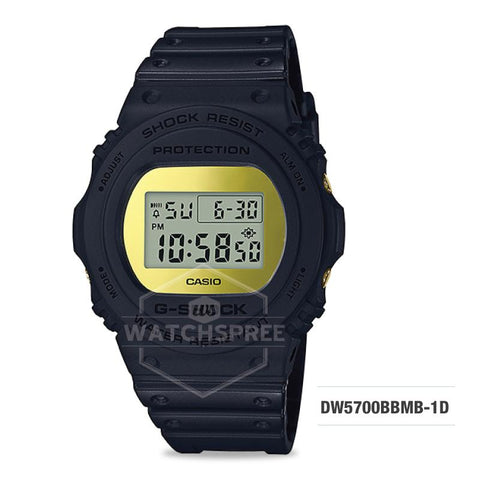 Casio G-Shock Special Color Metallic Mirror Face Black Resin Band Watch DW5700BBMB-1D DW5-700BBMB-1D