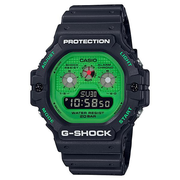 Casio G-Shock Hot Rock Sounds Special Color Model Black Resin Band Watch DW5900RS-1D DW-5900RS-1D DW-5900RS-1