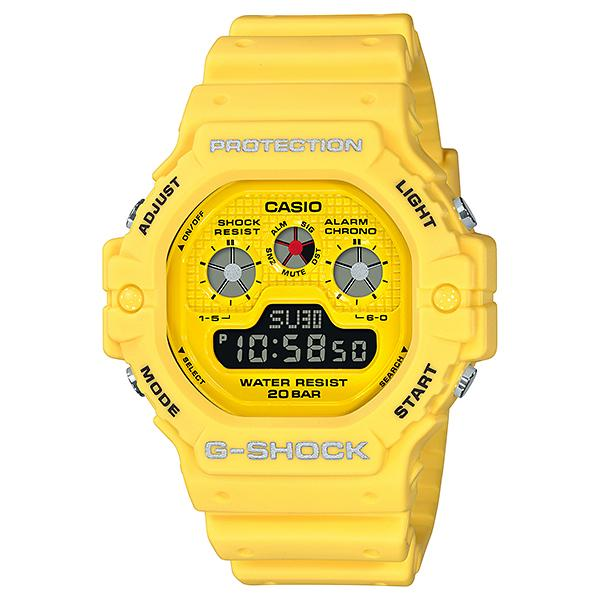 Casio G-Shock Hot Rock Sounds Special Color Model Yellow Resin Band Watch DW5900RS-9D DW-5900RS-9D DW-5900RS-9