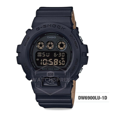 Casio G-Shock Special Color Model Black Resin Band Watch DW6900LU-1D DW-6900LU-1D