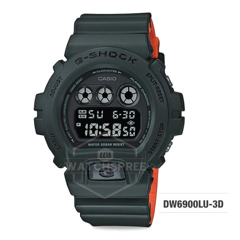 Casio G-Shock Special Color Model Olive Green Resin Band Watch DW6900LU-3D DW-6900LU-3D