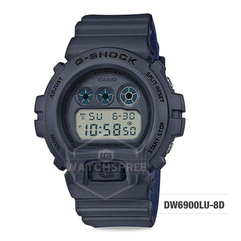 Casio G-Shock Special Color Model Grey Resin Band Watch DW6900LU-8D DW-6900LU-8D