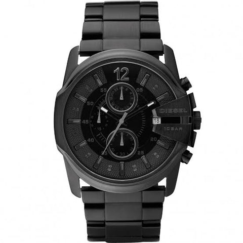 Diesel Master Chief Black Dial Black Stainless Steel Bracelet 49 mm x 45 mm Men's Watch DZ4180