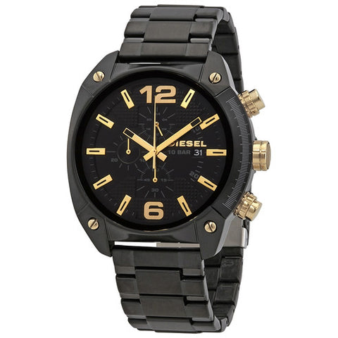 Diesel Overflow Chronograph Quartz Black Dial 49 mm Men's Watch DZ4504