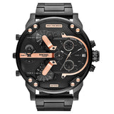 Diesel The Daddies Chronograph Four Time Zone Dial 66 mm x 57 mm Men's Watch DZ7312 [Pre-order]
