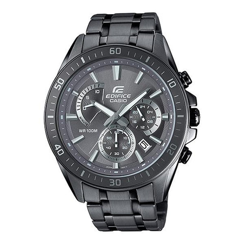 Casio Edifice Chronograph Grey Ion Plated Stainless Steel Band Watch EFR552GY-8A EFR-552GY-8A