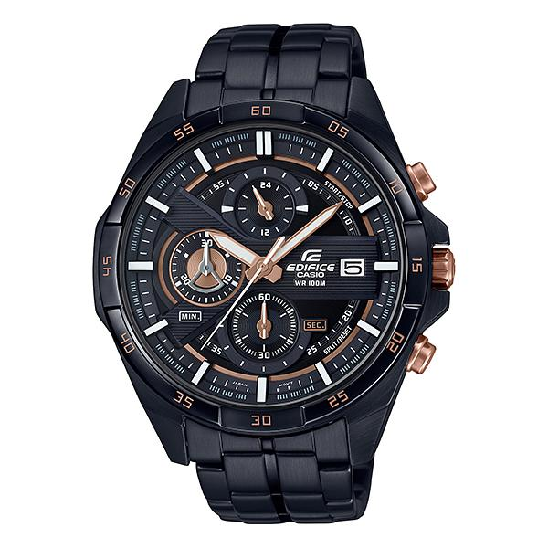 Casio Edifice Standard Chronograph Black Ion Plated Stainless Steel Band Watch EFR556DC-1A EFR-556DC-1A