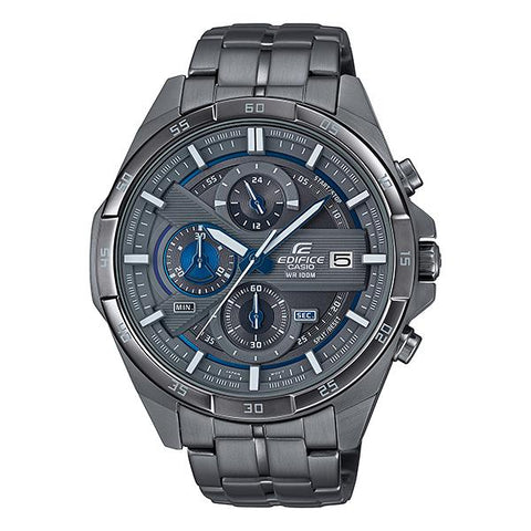 Casio Edifice Standard Chronograph Gray Ion Plated Stainless Steel Band Watch EFR556GY-1A EFR-556GY-1A
