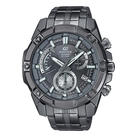 Casio Edifice Standard Chronograph Gray Ion Plated Stainless Steel Band Watch EFR559GY-1A EFR-559GY-1A