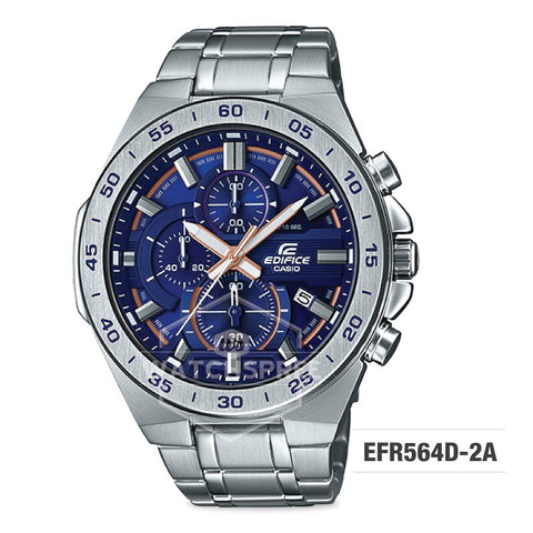 Casio Edifice Standard Chronograph Silver Stainless Band Watch EFR564D-2A EFR564D-2A