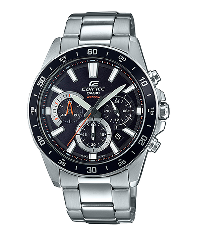 Casio Edifice Standard Chronograph Silver Stainless Steel Watch EFV570D-1A EFV-570D-1A