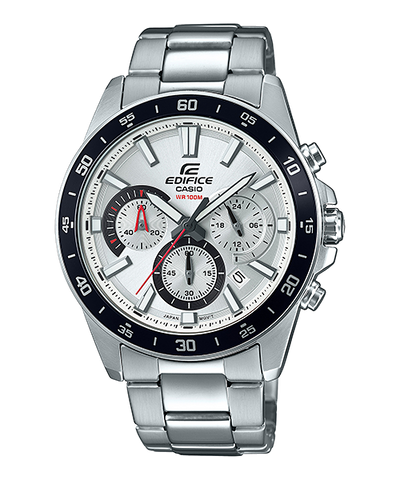 Casio Edifice Standard Chronograph Silver Stainless Steel Watch EFV570D-7A EFV-570D-7A