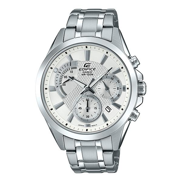 Casio Edifice Standard Chronograph Silver Stainless Steel Band Watch EFV580D-7A EFV-580D-7A