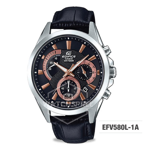 Casio Edifice Standard Chronograph Silver Stainless Band Watch EFV580L-1A EFV-580L-1A
