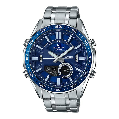 Casio Edifice Chronograph Silver Stainless Steel Band Watch EFVC100D-2A EFV-C100D-2A