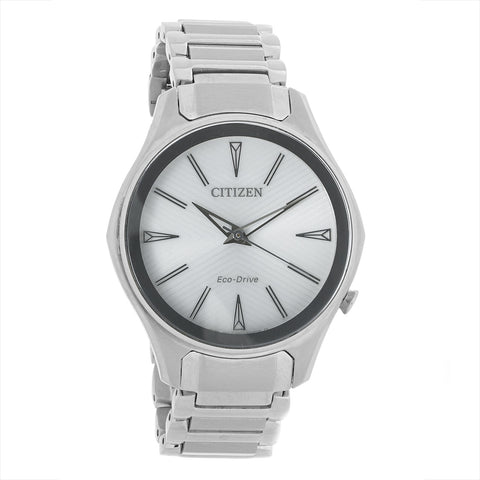 Citizen Modena Eco-Drive Silver Dial 36 mm Ladies Stainless Steel Watch EM0590-54A [Pre-order]