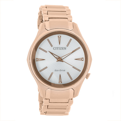 Citzen Modena White Dial Rose Gold-tone 36 mm Ladies Watch EM0593-56A [Pre-order]