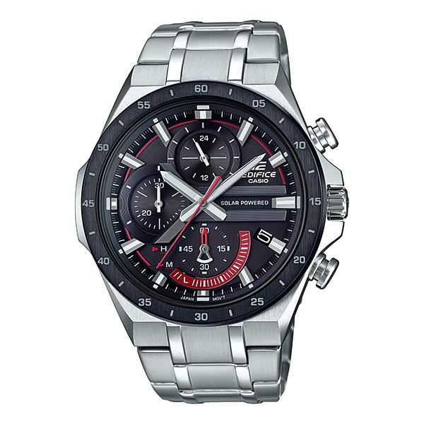 Casio Edifice Solar-Powered Chronograph Silver Stainless Steel Band Watch EQS920DB-1A EQS-920DB-1A