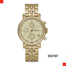Load image into Gallery viewer, Fossil Ladies Original Boyfriend Chronograph Gold-Tone Stainless Steel Watch ES2197