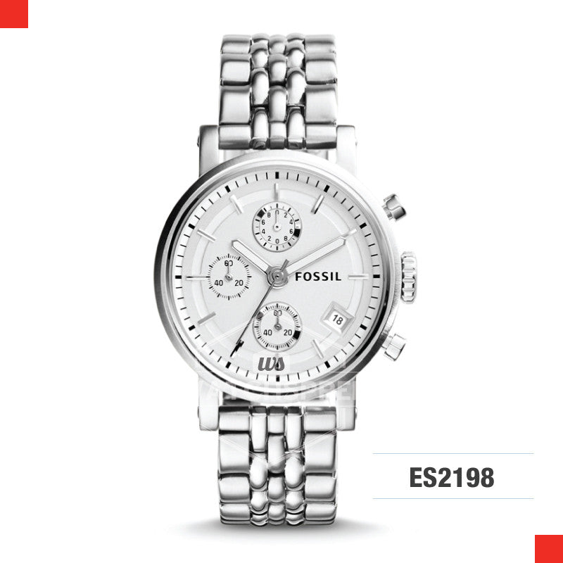 Fossil Ladies Original Boyfriend Chronograph Stainless Steel Watch ES2198