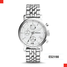 Load image into Gallery viewer, Fossil Ladies Original Boyfriend Chronograph Stainless Steel Watch ES2198