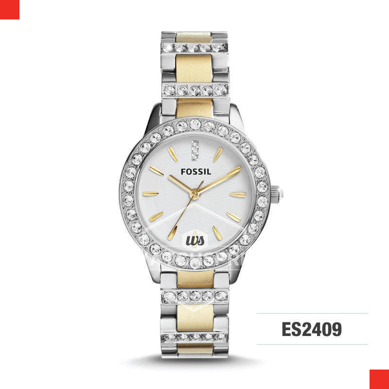 Fossil Ladies Crystal Two-Tone Watch ES2409
