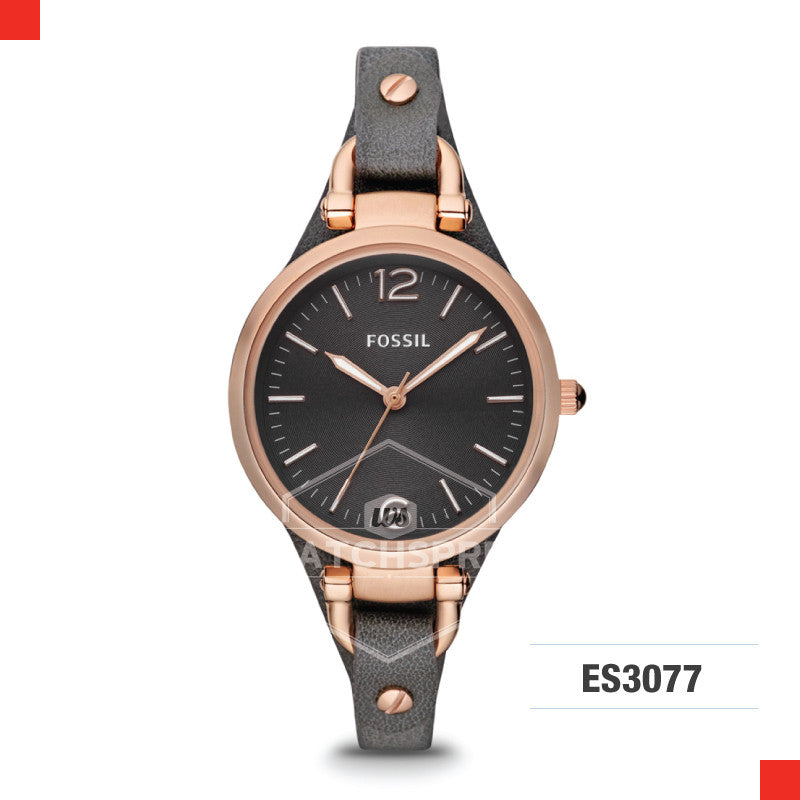 Fossil Ladies Georgia Three Hand Leather Watch ES3077