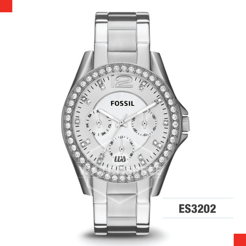 Fossil Ladies Riley Multifunction Stainless Steel Watch ES3202