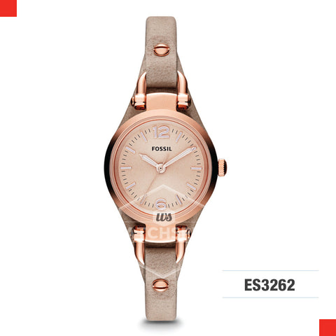 Fossil Ladies Georgia Mini Sand Leather Watch ES3262