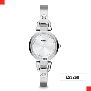 Fossil Ladies Georgia Stainless Steel Strap Watch ES3269