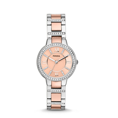 Fossil Ladies' Virginia Two-Tone Stainless Steel Watch ES3405