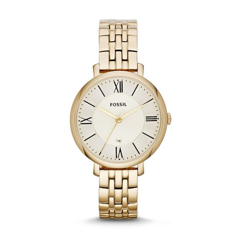 Fossil Ladies' Jacqueline Gold-Tone Stainless Steel Watch ES3434