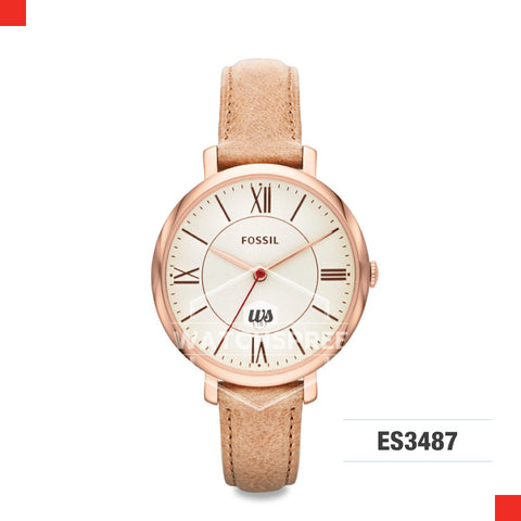 Fossil Ladies Jacqueline Sand Leather Watch ES3487
