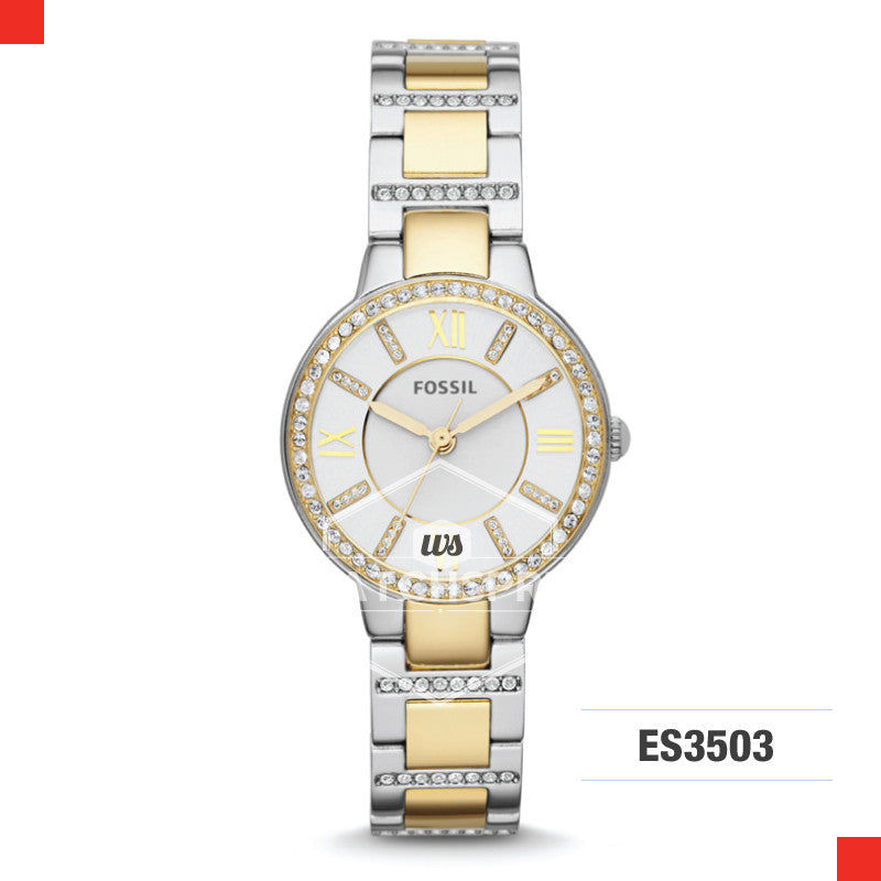 Fossil Ladies Virginia Two-Tone Stainless Steel Watch ES3503