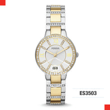 Load image into Gallery viewer, Fossil Ladies Virginia Two-Tone Stainless Steel Watch ES3503