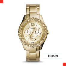 Load image into Gallery viewer, Fossil Ladies Stella Multifunction Gold-Tone Stainless Steel Watch ES3589