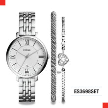 Load image into Gallery viewer, Fossil Ladies Jacqueline & Bracelet Set Stainless Steel Watch ES3698SET
